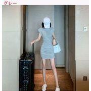 デザイン 感 引きひも 折り畳む ベストドレス 女 夏 新しいデザイン 気質 何でも似合
