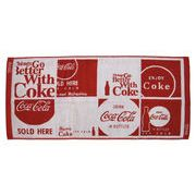 コカ・コーラ フェイスタオル ポップスクエアレッド 【アメリカン雑貨】【日本製タオル】