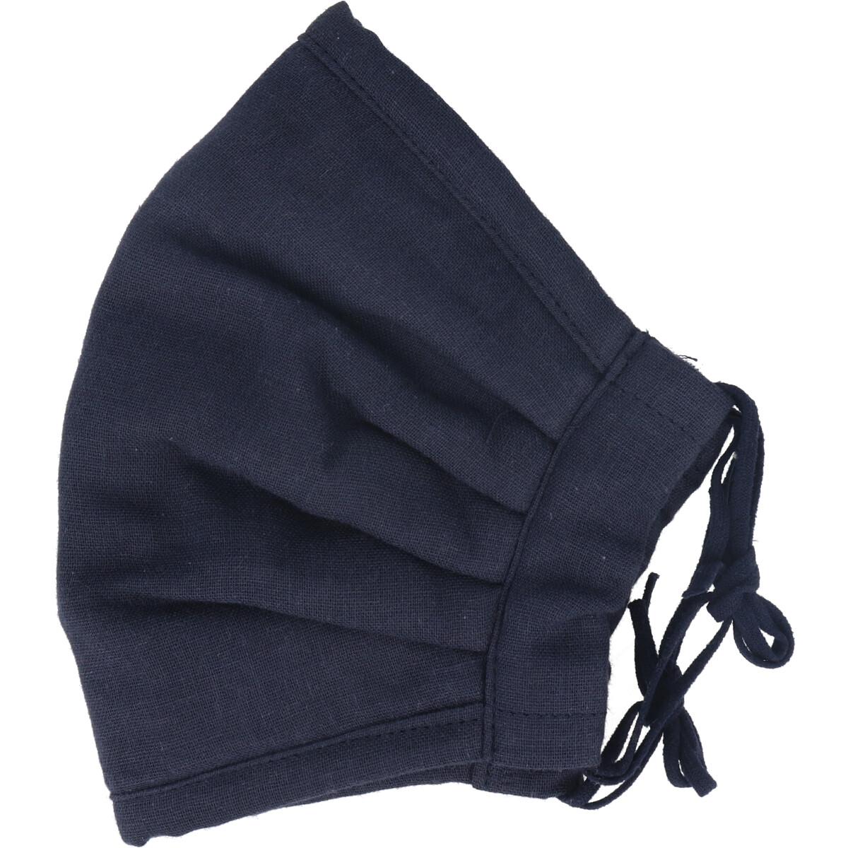 ふわふわマスク 今治産タオル 超敏感肌用 ネイビー ゆったり大きめサイズ 1枚入