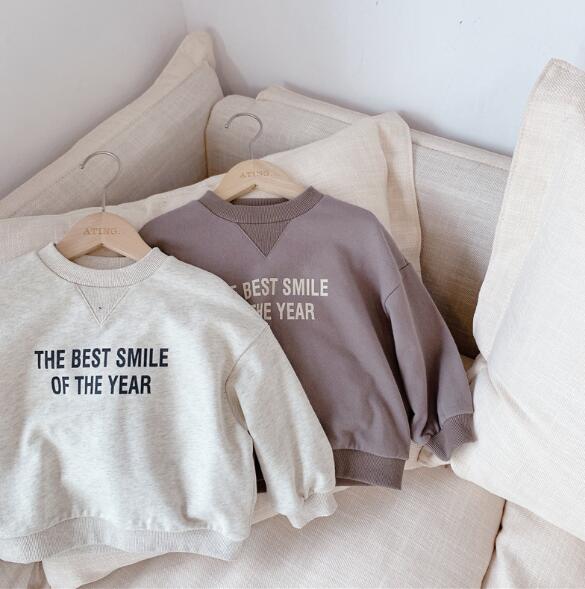 春秋 2色 男女兼用 子供服 長袖Tシャツ 可愛い 韓国ファッション トップス キッズ