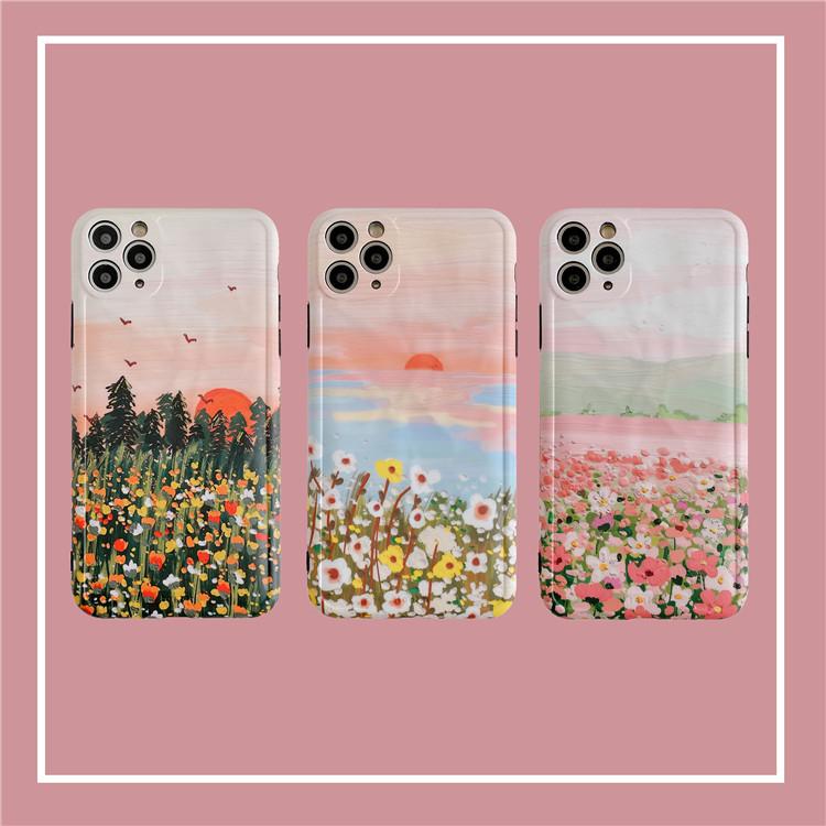 iPhone ケース アイフォンケース 花 スマホケース
