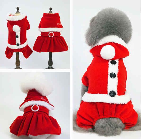 クリスマス 犬服 ワンピース  ワンちゃん服 ペットの大変身犬服 ペット用品(S-XXL)