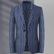 2020年秋冬新作 チェックスーツ ビジネススーツ メンズスーツ 両面 ウールスーツ スモールスーツ