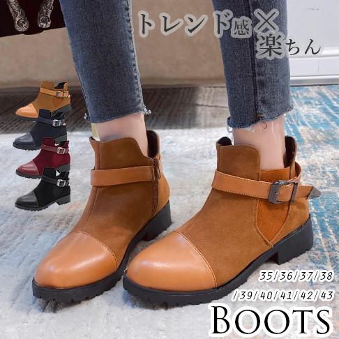 2020秋冬新作 レディース 靴 ブーツ アンクル boots ショットブーツ サイドジップアップ