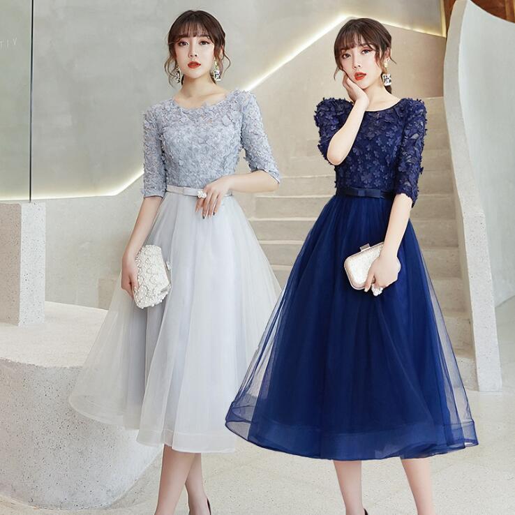 大きいサイズドレス Aライン チュールワンピース 黒ドレス