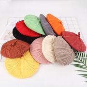 超人気    子供ベレー帽  帽子 秋冬 ニット帽  子供ハット 可愛い帽子    韓国ファション