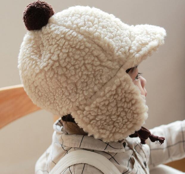 子供帽 帽子 秋冬 ふわふわ帽 ファション 5色 コーデュロイ 子供ハット 可愛い帽子