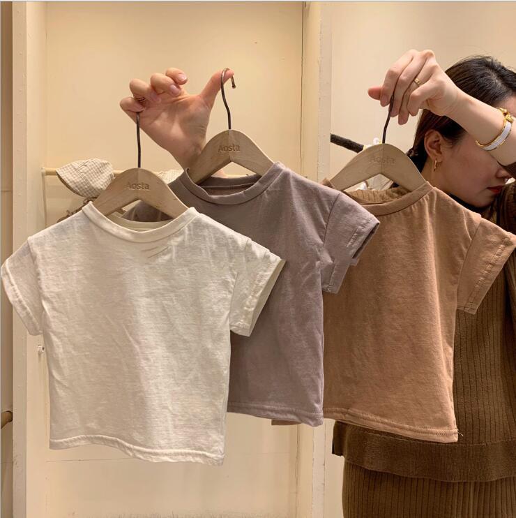 宝来商事 ★大人気アパレル★男女兼用キッズ服★子供服★赤ちゃん着可愛い無地半袖tシャツ