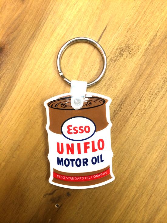 レーシング ラバー キーホルダー ESSO OIL エッソ オイル缶 rk005