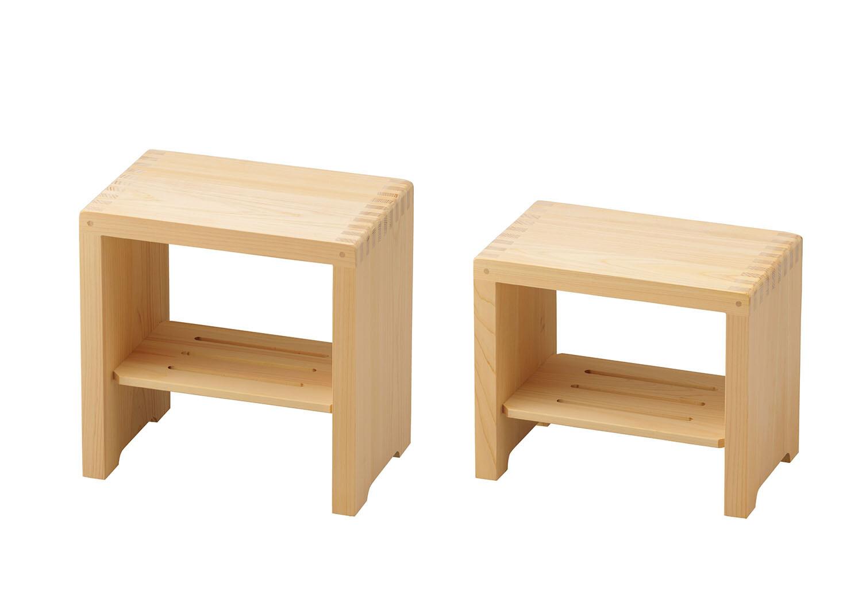 ひのき箱型風呂椅子【大/小】