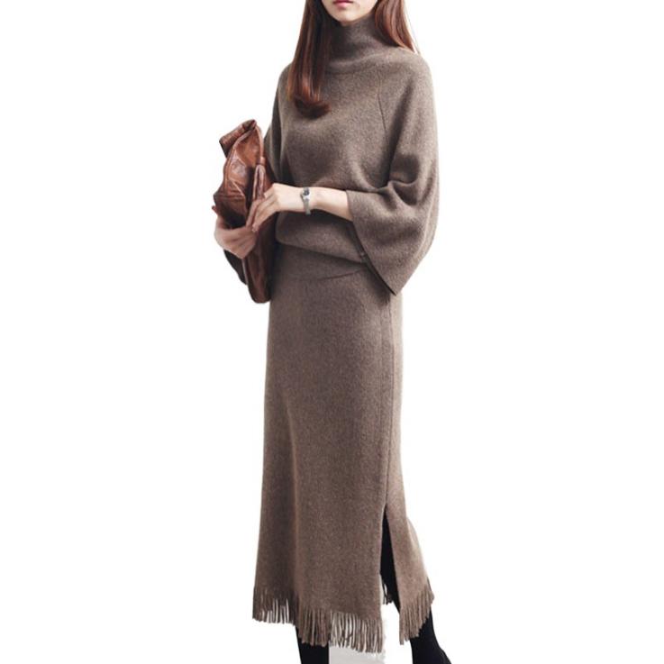 大人の魅力高まる 新作 秋冬 レディースファッション セーター ニット 上着+スカート 2点セット