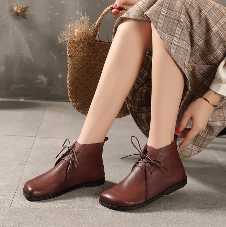 大人の魅力高まる オリジナル 牛革 レディースシューズ ショートブーツ シューズ 靴 高級品質
