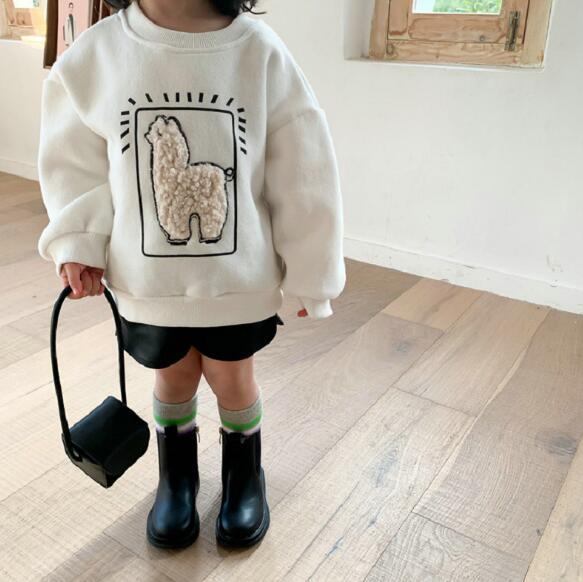 子供パーカー Tシャツ 秋冬 厚手 裏起毛 上着 ブラウス トップス 子供服