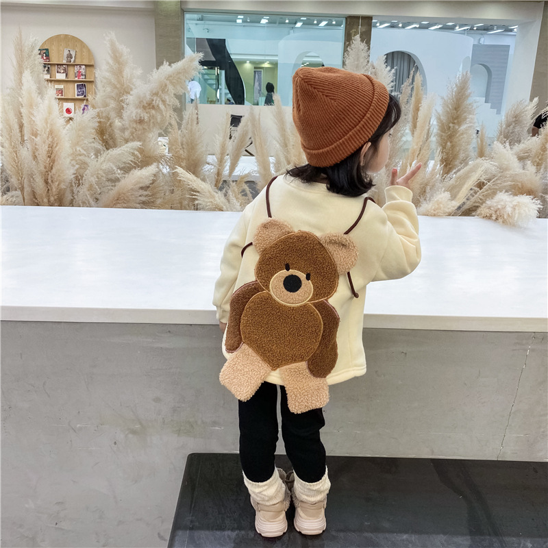 【KID】冬秋 可愛いくまの刺繍 セーター 秋子供服 シンプル