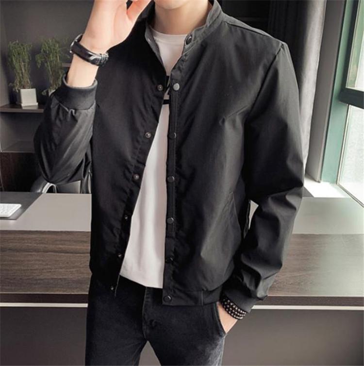 注目すべきアイテム!通勤する  ジャケット 新スタイル 単体ボタン 韓国版 ゆったりする スタンドカラー