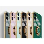 リング付き iPhoneケース iPhone12 スマホケース アイフォンケース 携帯ケース 全機種対応 6色展開