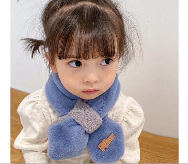 秋冬 子供スカーフ 厚い暖かい ビブ 男の子女の子 可愛い マフラー