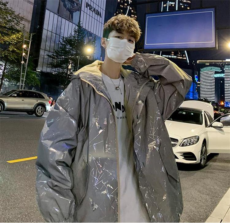 週末に着たい服 自社生産 早い者勝ち リフレクティブ ジャケット ストリート ヒップホップ 韓国版