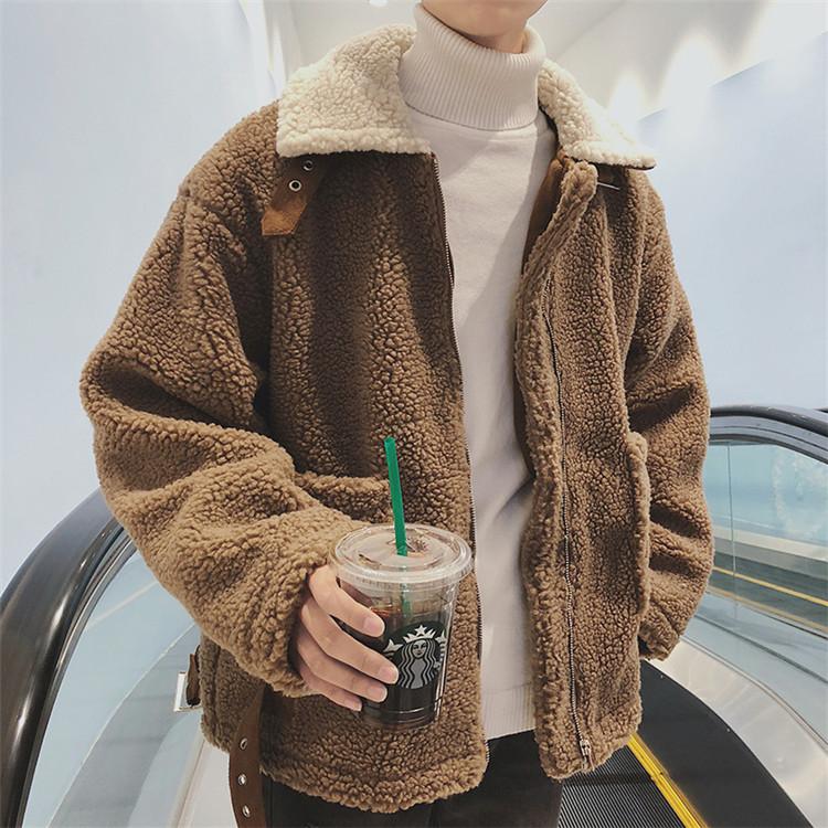 季節の単品 激安セール コート カップル ゆったりする カジュアル パッド入りジャケット ラムウール