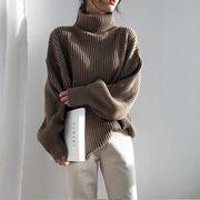 新作レディースセーター トップス ハイネック 長袖 フリーサイズ ゆったり   人気 新品