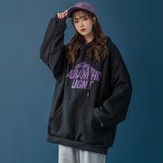 【Women】レンドロゴプリントフード付きパーカー長袖 全2色