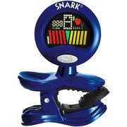 SNARK ギター・ベース・ウクレレ用 クリップ型クロマチックチューナー ハイグロスブルー SN-11