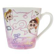 【マグカップ】クレヨンしんちゃん 磁器製MUG ふわふわクレヨン ピンク
