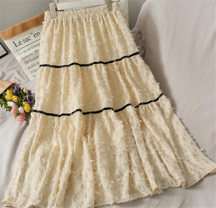 スリム ハイウエスト スカート 百掛け エレガント Aラインスカート 女性 気質 レトロ 小さい新鮮な