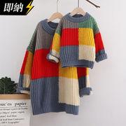 【即納】親子服 カラバリセーター 韓国ファッション 秋冬