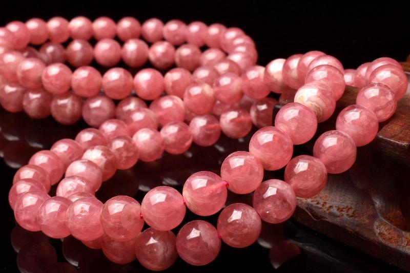 ピンクの発色が可愛い! インカローズ 7.5mm ブレスレット_BG1893-75