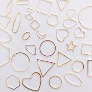 フレームパーツ ゴールド 金属パーツ メタルパーツ アクセサリーパーツ デコ土台 材料 素材手芸 DIY