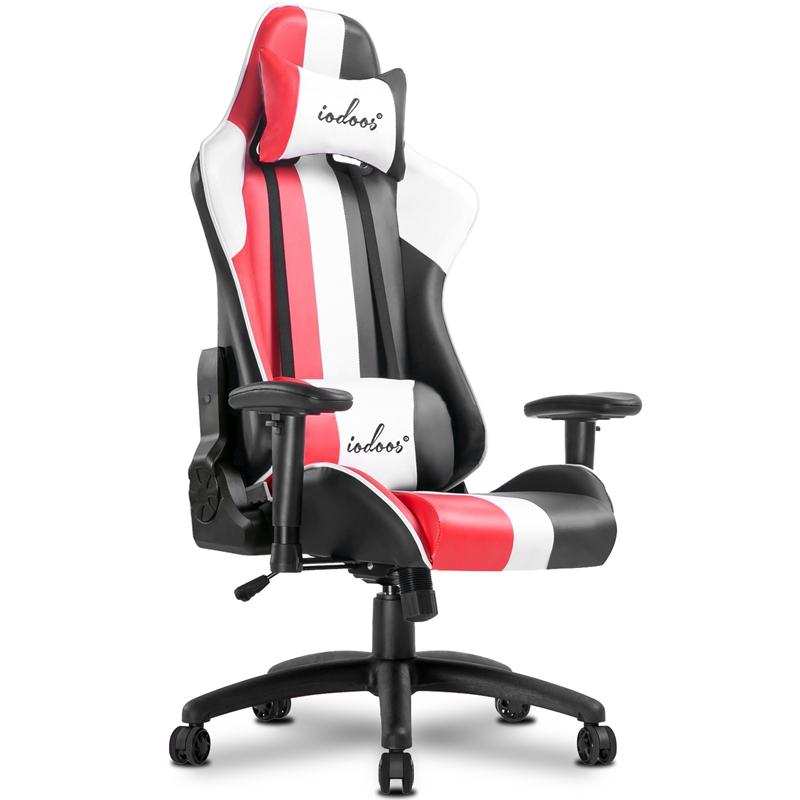 【国内発送】ゲーミングチェア オットマン付き 通気性抜群 gaming chair 腰痛対策 オフィス PP-18
