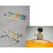 知育玩具 木製パズル&積み木釣り