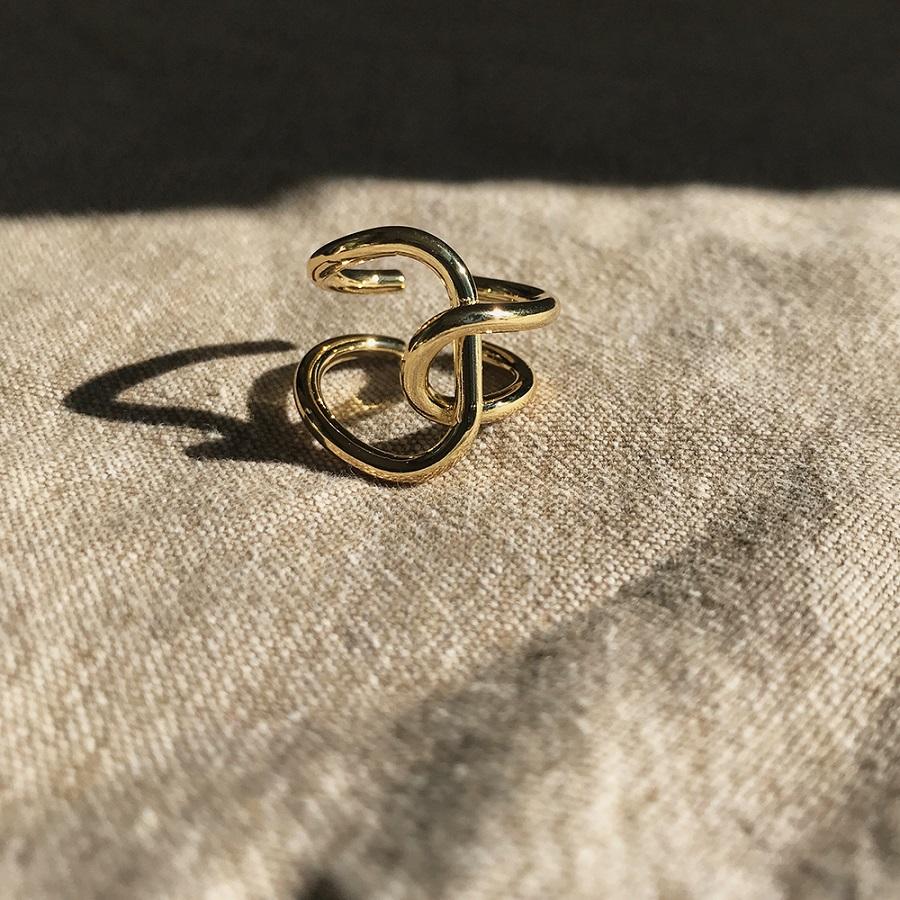 指輪 リング 合金 alloy ゴールドsilver gold ring ◆メール便対応可◆