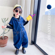 【KID】2021年韓国春新作男女兼用かっこいいデニムオールインワン