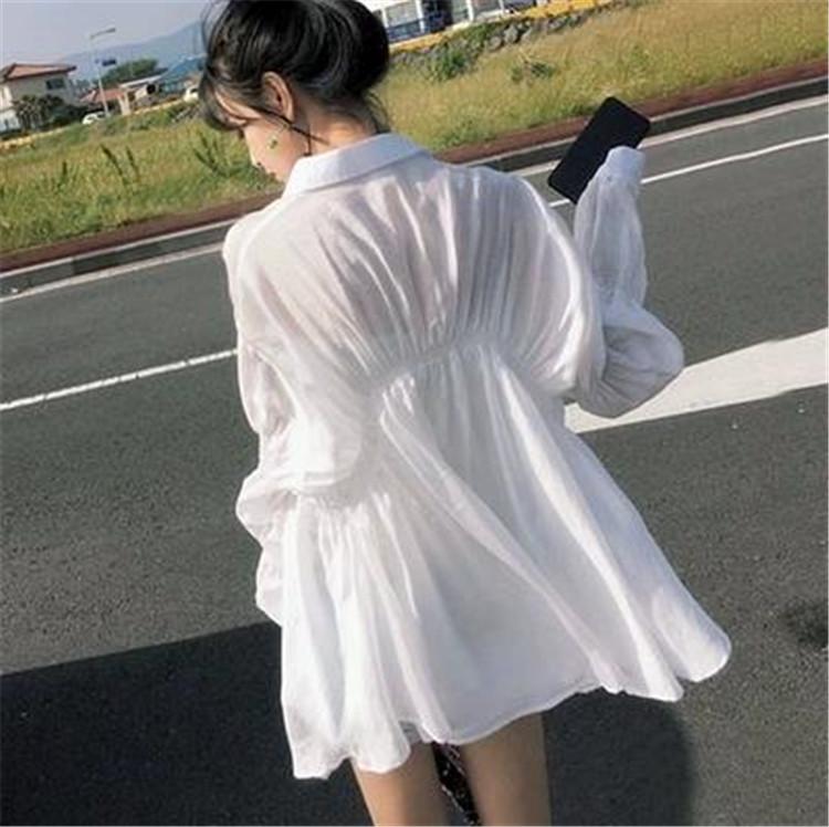 早い者勝ちc 春夏 日焼け止めシャツ ゆったりする 長袖 トップス 中・長セクション 薄い アウター