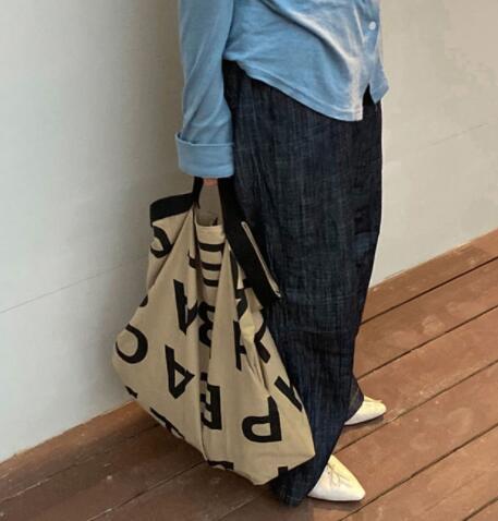 新作 バッグ ハンドバッグ 英字 大容量 シンプル 韓国ファッション