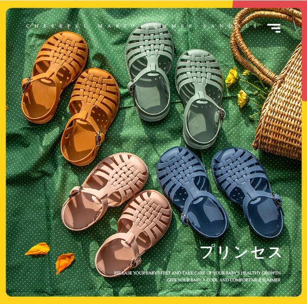 【子供靴・4月15日再入荷】夏 サンダル 男女兼用 ベビー シューズ キッズ靴 柔らかい 全4色