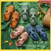 【子供靴】夏 サンダル 男女兼用 ベビー シューズ キッズ靴 柔らかい 全4色
