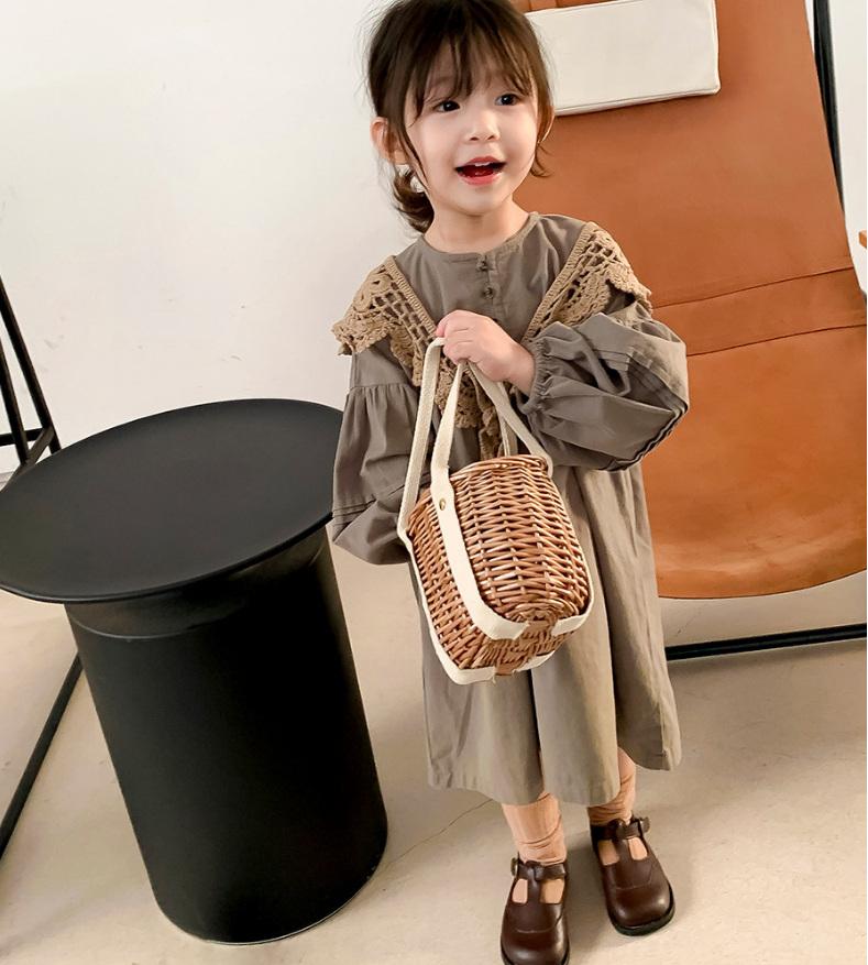 人気商品 女の子 スカート 肩掛け ワンピース お姫様ドレス 春夏 新作 子供服 韓国子供服