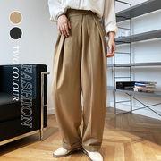 【Women】2021年新作 週末に着たい 楽しめるゆったりパンツ マジックテープ 気質アップ おしゃれ