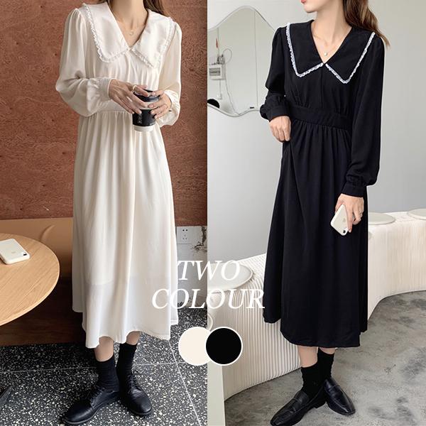 【Women】2021年新作 ロング丈ワンピース ins風 着やせ 韓国ファッション
