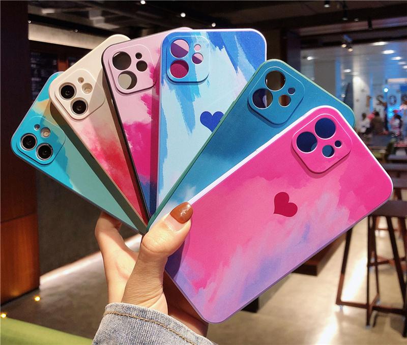 油絵風iPhoneケース iphone 7/8~iphone12 pro max ケースカバー ペイントタッチ