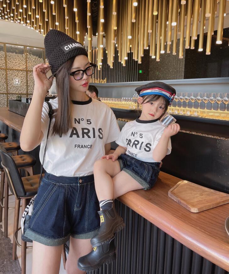 2021新作 シャツ T-シャツ 親子服 SALE 韓国子供服 カジュアル 女の子