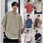 人気 夏 Tシャツ メンズ ビッグTシャツ 半袖 無地 大きいサイズ ビッグシルエット カジュアル ゆったり