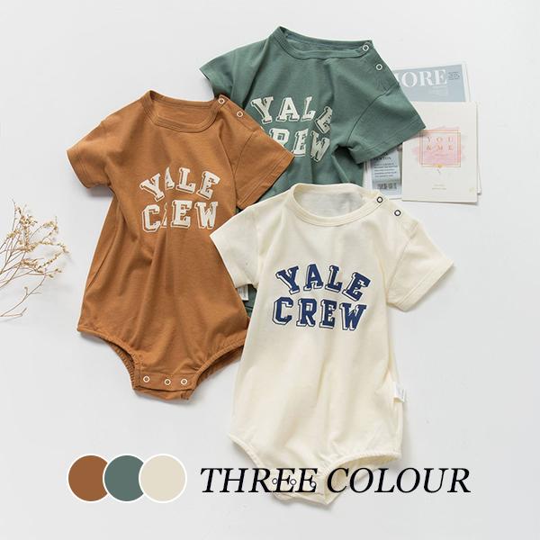 【KID】2021年春夏新作 子供服 ベビー服 英字半袖ロンパース 韓国ファッション 可愛い シンプル