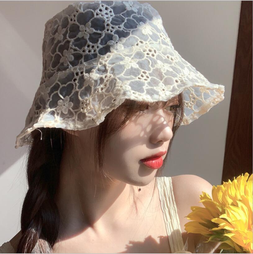 春夏新作 レディースハット  薄い帽子 女の子 日焼け止め 日よけ帽  通気性 レース帽子