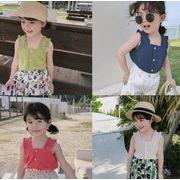 子供服 タンクトップ キッズ 子ども 夏 シンプル かわいい カジュアル トレンド 人気