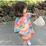 子供服 Tシャツ キッズ 子ども 夏 虹 男女兼用 かわいい カジュアル トレンド 人気