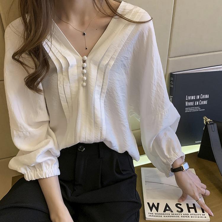 春夏用 韓国風 Yシャツ おしゃれ 可愛い服 シンプル OL通勤 通学